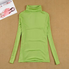 Winter Womens Turtle Roll neck Long Sleeve Jumper T-Shirt Bottoming Tops Sweater