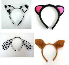 4 x Squirrel Cow OX Black Cat Dalmations Dog Animal Zoo Farm Headband Ears New
