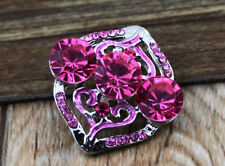 3D Rhinestone Drill Snaps Chunk Charm Button Fit For  Leather Bracelets DA1