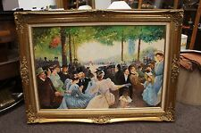 Stunning 19th Century Reproduction Oil on Canvas European Impressionism Framed