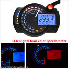 15000RPM LCD Digital Odometer Dual Colors  Speedometer Tachometer Motorcycle