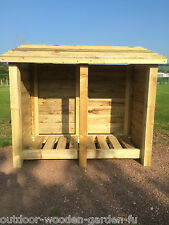 HEAVY DUTY 4 FT DOUBLE BAY LOG STORE