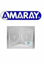 25 Double Clear DVD Case Slim 7 mm Spine Replacement Cover Face on Face Amaray