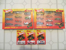 HOT WHEELS HOT ONES '71 FORD MUSTANG TWIN MILL DODGE VAN CHASE SPEED PACK 1 & 3