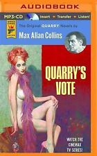 Quarry: Quarry's Vote : A Quarry Novel 5 by Max Allan Collins (2016, MP3 CD,...