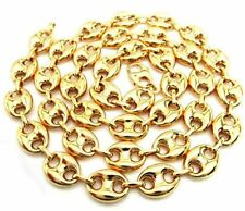 "10K Gold Yellow Puff Gucci Link Chain 30"" 9mm wide 37.4 Grams"