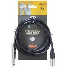 Stagg NAC3PSXM Professional Audio Music Cable Phone Plug XLR 3M 10ft 6mm - Black