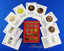CA187 Playing Cards Deck Summer Olympics Games Historic Medal Collectible