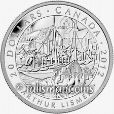 Canada 2012 Group Seven Artists #2 Fishing Village by Lismer $20 Pure Silver Prf