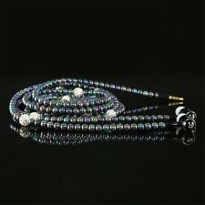 Nice Fashion Earbuds Multi color In Ear Diamond Pearl Chain Lovely Earphones H