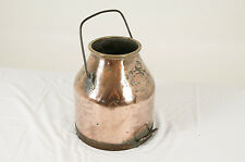 Antique Scottish Copper Milk Can, Pail, Churn with Carrying Handle, 13lbs.