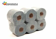 2ply Blue Embossed Centrefeed Paper Towel Rolls x 6