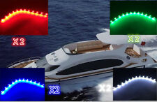 "Boat Navigation LED WHITE GREEN RED & GREEN 12"" Waterproof Marine LED Strips"