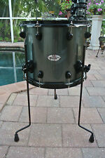 """ADD this PDP by DW 16"""" DOUBLE DRIVE GRAY METAL FLOOR TOM to YOUR DRUM SET! #T408"""