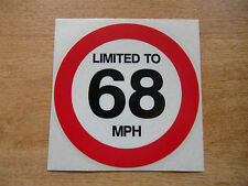 LIMITED TO 68 MPH - 120mm Decal - car / van / truck sticker