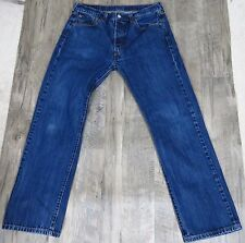 Levis 501 Jeans Button fly Straight leg High Rise Waist Boyfriend  34-33 # 246