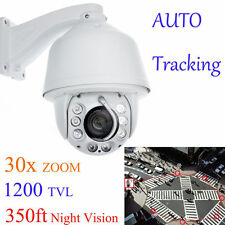 Auto Tracking 30x Zoom 1200TVL PTZ Analog High Speed CCTV Security Camera 300FT