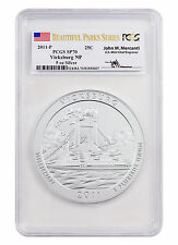 2011-P 25c 5 oz Silver ATB Vicksburg PCGS SP70 Beautiful Parks/Mercanti SKU43626