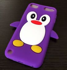 iPod Touch 5th 6th Gen - Soft Silicone Rubber Case Cover Cute Penguin Accessory