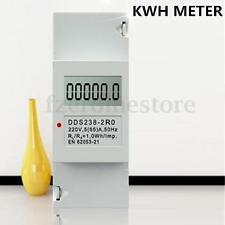 DDS238-2 Digital 230V 5(32)A DIN-rail Kilowatt Hour kwh Meter LCD display HOT