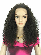 JENNIFER HAIR LACE FRONT FULL WIGS CURLY WIGS COLOUR (4)DARK BROWN