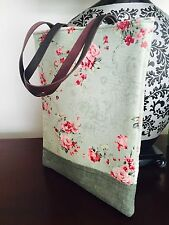 001 Handmade vintage tote bag in Australia - leather handle - stylist