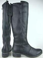 REPLAY Donna Gambale Alto Stivali Stivali pelle NERO MIS. 37 NUOVO con etichetta