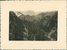 France, Haut-Queyras, Vallée de Ségure près d'Abriès  Vintage silver print