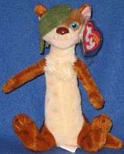 TY BUCK the ONE EYES WEASEL BEANIE BABY - MINT with MINT TAG (ICE AGE 3 MOVIE)