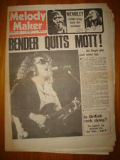 MELODY MAKER 1974 SEP 21 MOTT THE HOOPLE BENDER QUITS
