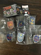 The Legend of Zelda Shield Pin badge collection complete set Nintendo