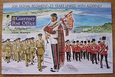 MINT STAMPS: 30th SIGNAL REGIMENT ~ 25 YEARS LINKED WITH ALDERNEY: 1996, MNH