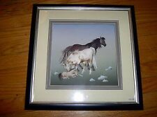 "NEW- UNIQUE - HORSES - PAPER SCULPTURE  3D  SHADOW BOX PICTURE - 16.5"" X 16.5"""