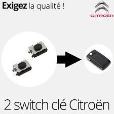 2 X switch pour clé télécommande pliante Citroen C2 C3 C4 C5 C6 - SW04