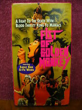 Fist of Golden Monkey VHS Video Eagle Han Si-Fu Wong Kung Fu Martial Arts Flick