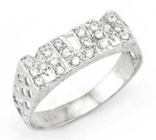 STERLING SILVER CUBIC ZIRCONIA CZ MUM MUMMY MOTHER RING BASKET BAND GIFT BOXED