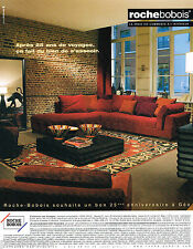 PUBLICITE ADVERTISING 065  2004  ROCHE & BOBOIS   meubles collection LES VOYAGES