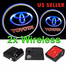 2x Wireless LED Courtesy Door Step Laser Welcome Ghost Shadow Lights for TOYOTA
