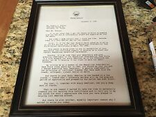 1985 Ronald Reagan Task force Letter ( 2pgs) in Carr & Co Frames, autopen?
