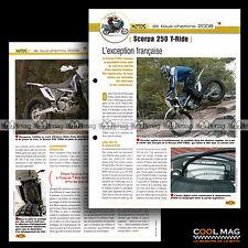 #jbt81.005 ★ SCORPA 250 T-RIDE 2008 ★ Fiche Moto Motorcycle Card