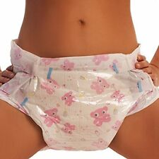 ABDL Pink Adult Diapers - Absorbent & Durable, Pack of 10 Medium by ABDL ASC