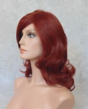 Medium Thick & Full High Heat Wavy Red Auburn Full Synthetic Wig Wigs - G1218
