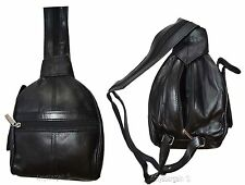Ladies Mini Leather backpack, Knapsack, Black rucksack small Black backpack #21