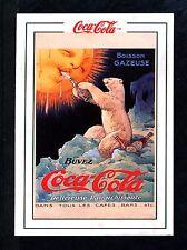 """COCA COLA POLAR BEAR CARD - RARE """"TUFF STUFF COLLECT"""" -1920 FRENCH AD - NEW 1994"""