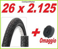 Copertone 26 x 2.125  bicicletta Mountain Bike MTB SLICK + CAMERA D'ARIA OMAGGIO