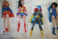 MEGO RETRO 8 ;BATGIRL,WONDER WOMAN ,SUPERGIRL; CATWOMAN.POLYBAG 8 INCH FIGURES