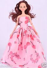 Handwork soft Princess Party Dress/Evening Clothes/Gown For Barbie Doll  w1049