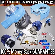 Universal Blue T3/T4+Wastegate+Air Filter Hign Performance Turbo Kits