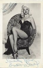 DORS DIANA DORS DAWSON autographed 3.5X5.5 photo GOLDENAGE ESSENTIALS