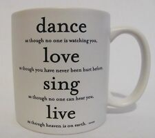 Quotable Mug Souza Dance Love Sing Live Coffee Tea Inspirational Gift Motivate